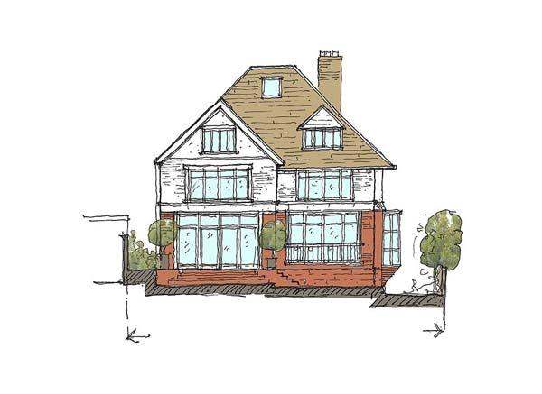 Hampstead House sketch