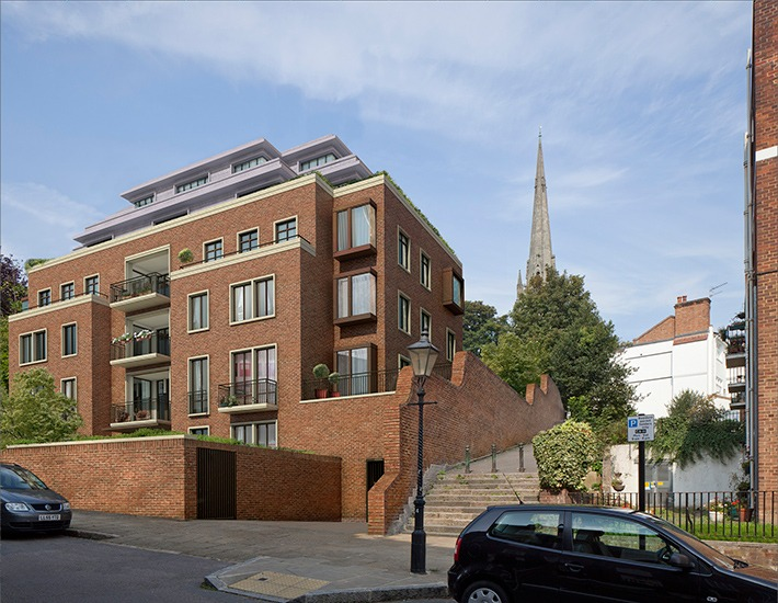 New End, Hampstead - external view